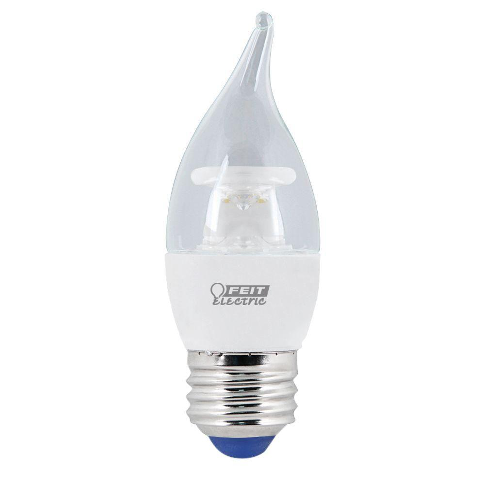 Feit electric 25w equivalent soft white 2150k b10 candelabra 40w equivalent warm white 3000k ca10 dimmable led cold start light aloadofball Image collections