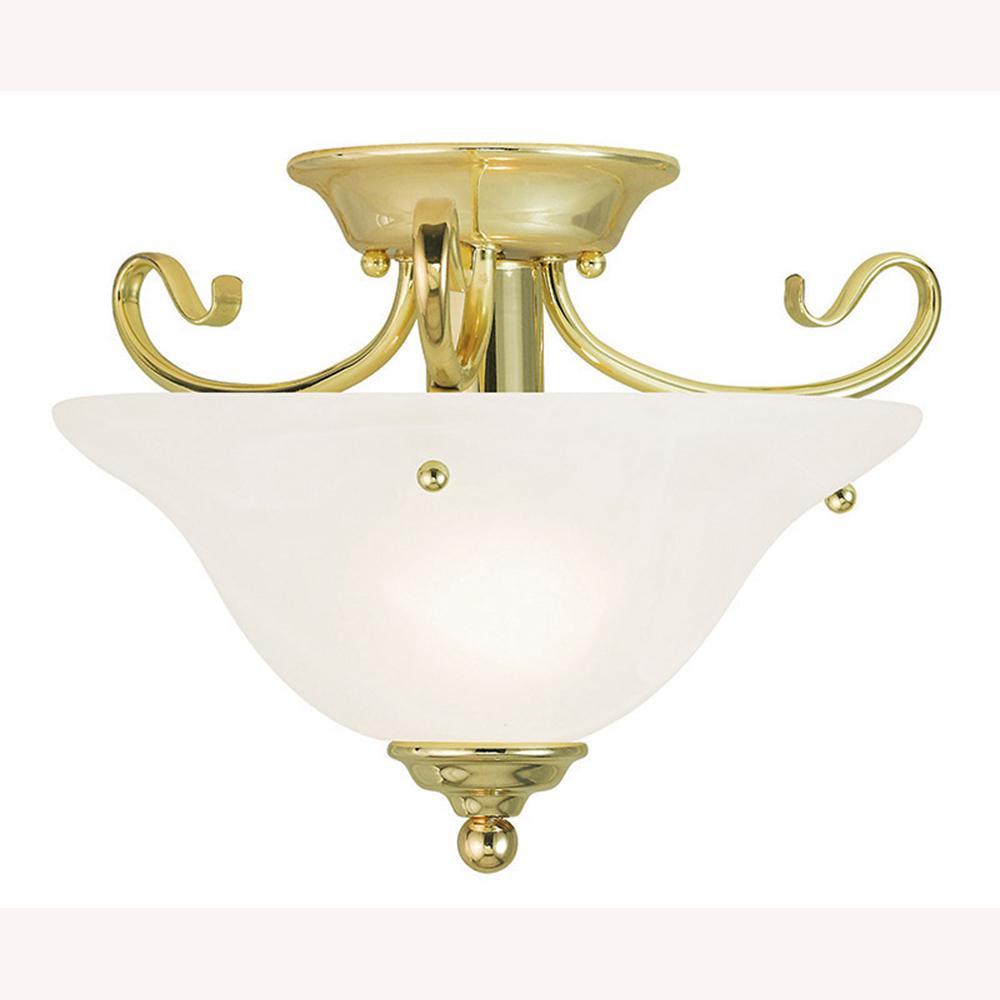 Coronado 1-Light Polished Brass Flushmount