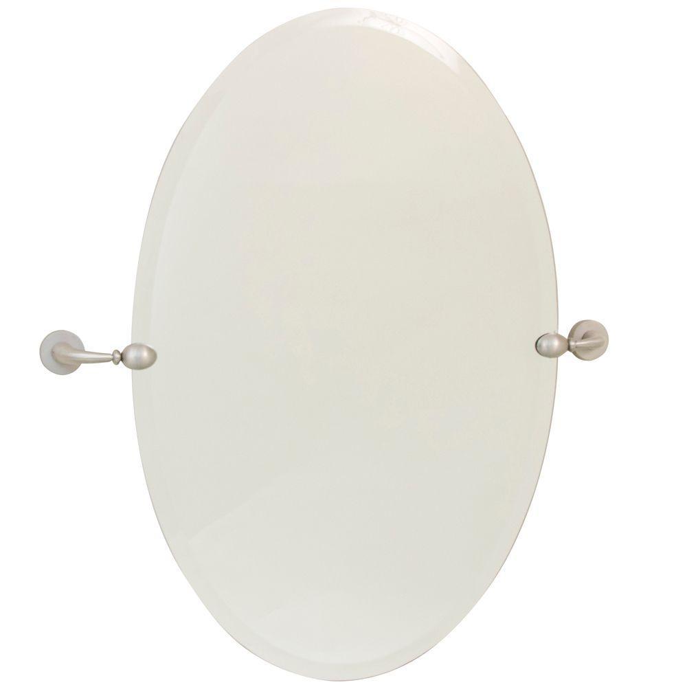 Moorefield Beacon 24 in. x 36 in. Pivoting Mirror in Brushed Nickel