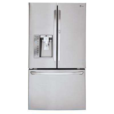 30 cu. ft. French Door Smart Refrigerator with Door-In-Door Design and WiFi Enabled in Stainless Steel