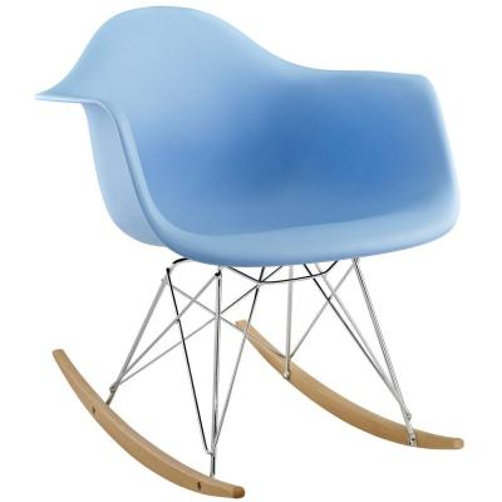Rocker Blue Plastic Lounge Chair
