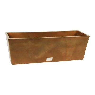 Window Box 9 in. W x 25 in. H Bronze Rectangular Plastic Planter