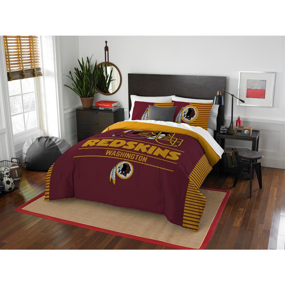 redskins 3-piece draft multi full/queen comforter set