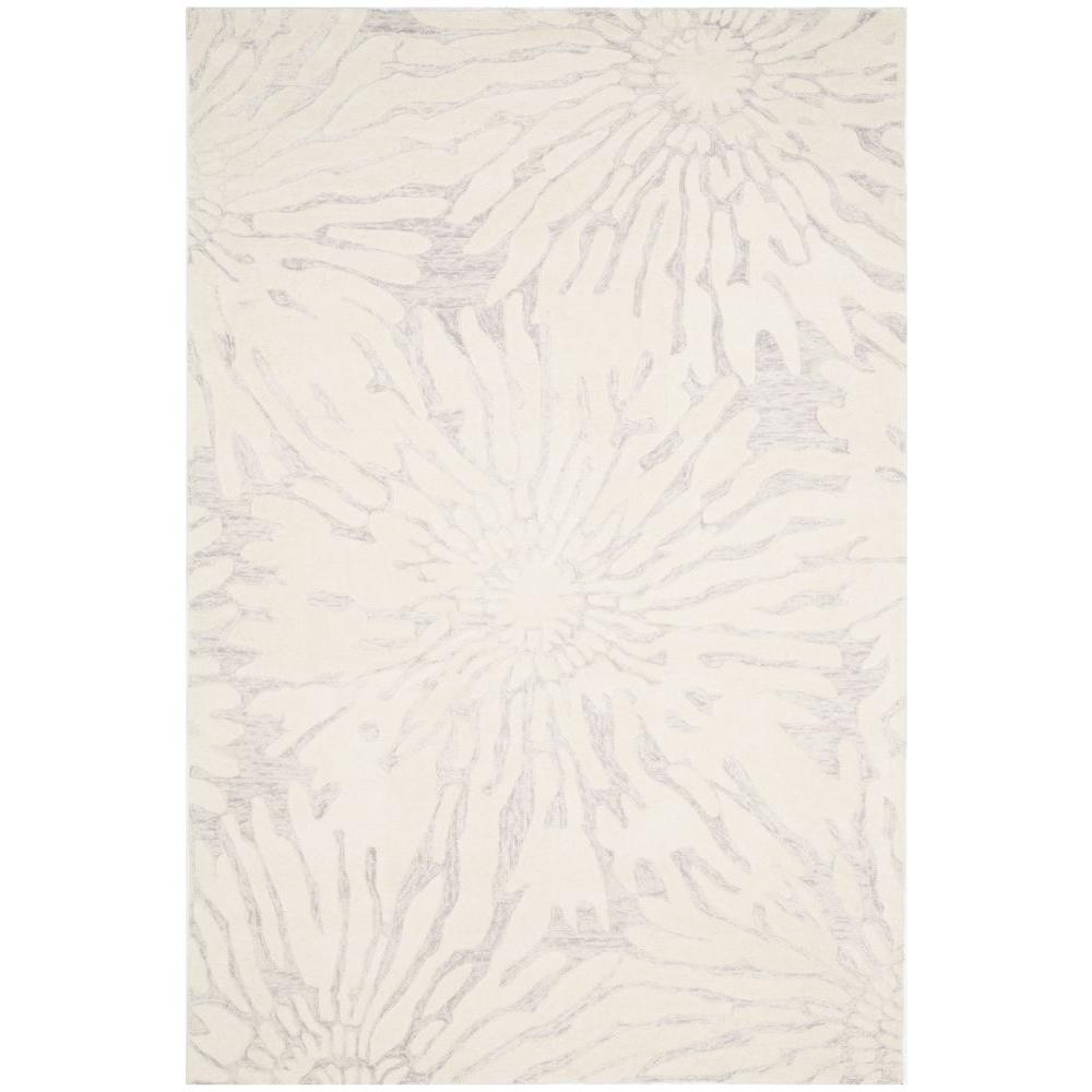 0414df257 Safavieh Bella Silver Ivory 6 ft. x 9 ft. Area Rug-BEL129A-6 - The ...
