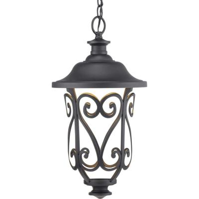 Leawood Collection Black Integrated LED Hanging Lantern