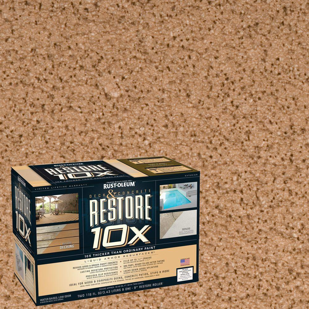 Rust-Oleum Restore 2-gal. Adobe Deck and Concrete 10X Resurfacer