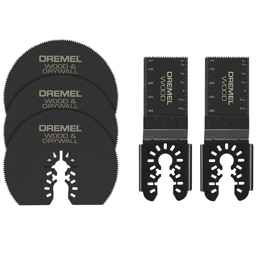 Dremel Multi-Max Oscillating Tool Cutting and Variety Accessory Kit for Wood Metal and Drywall (5-Pieces)