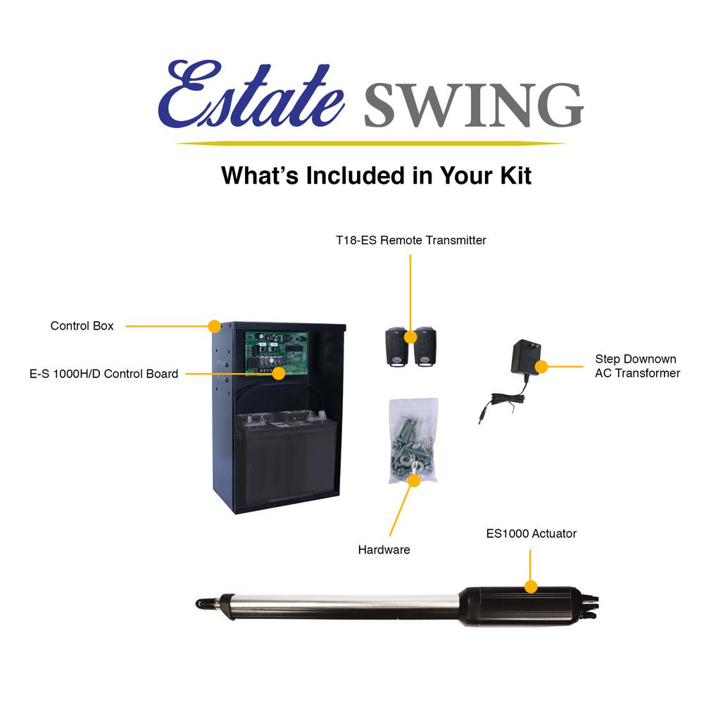 Estate Swing Single Swing Automatic Gate Opener Kit E S