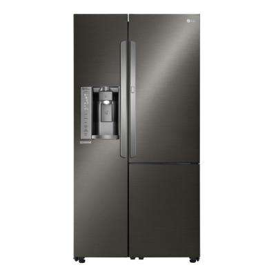 26.1 cu. ft. Side by Side Refrigerator with ColdSaver and Door-in-Door in Black Stainless Steel