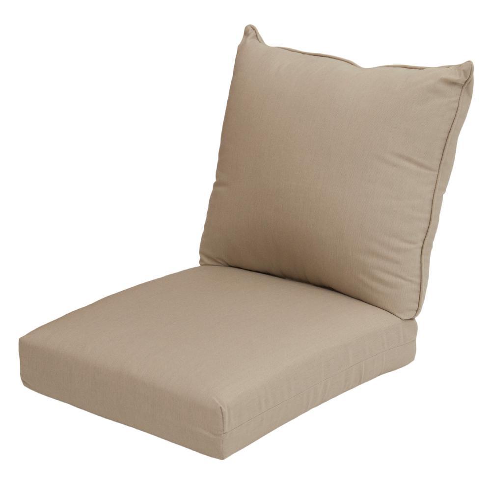 Sunbrella Spectrum Sand 2 Piece Deep Seating Outdoor Lounge Chair Cushion