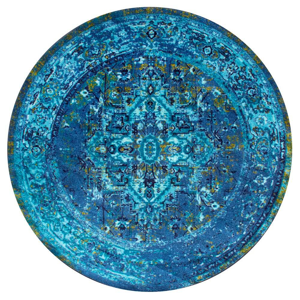 nuLOOM Vintage Reiko Blue 5 ft. Round Area Rug-MCGZ01C-505R - The ...
