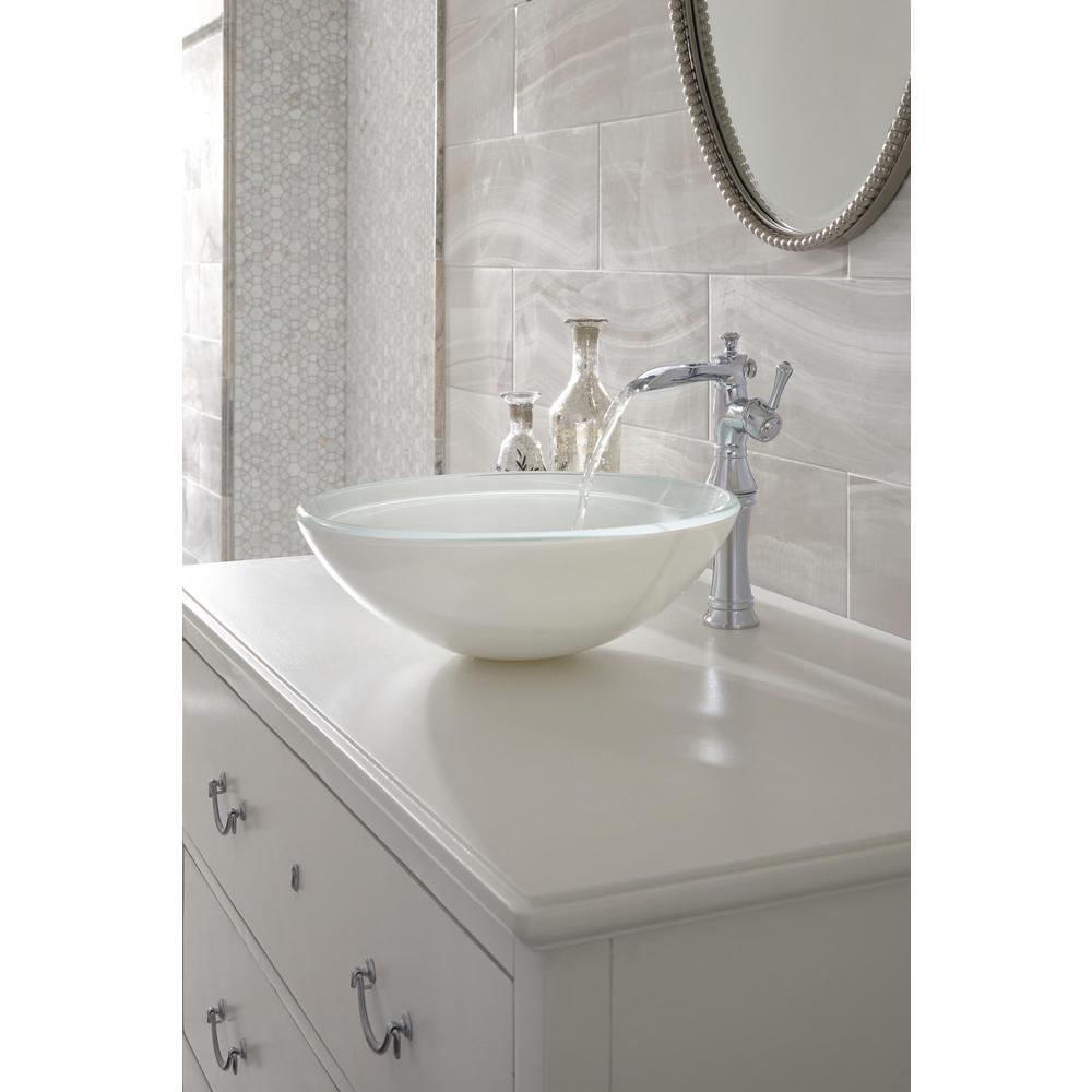 Cassidy Single Hole Single-Handle Open Channel Spout Vessel Bathroom Faucet in Chrome