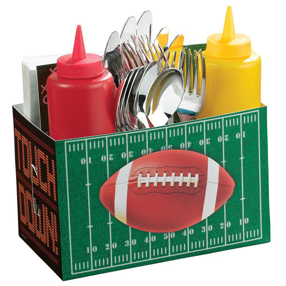 7 in. Football Field Utensil Caddy