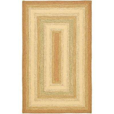 Braided Rust/Multi 4 ft. x 6 ft. Area Rug
