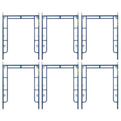 Saferstack 6.4 ft. x 5 ft. Mason Walk-Through Arch Scaffold Frame (6-Pack)