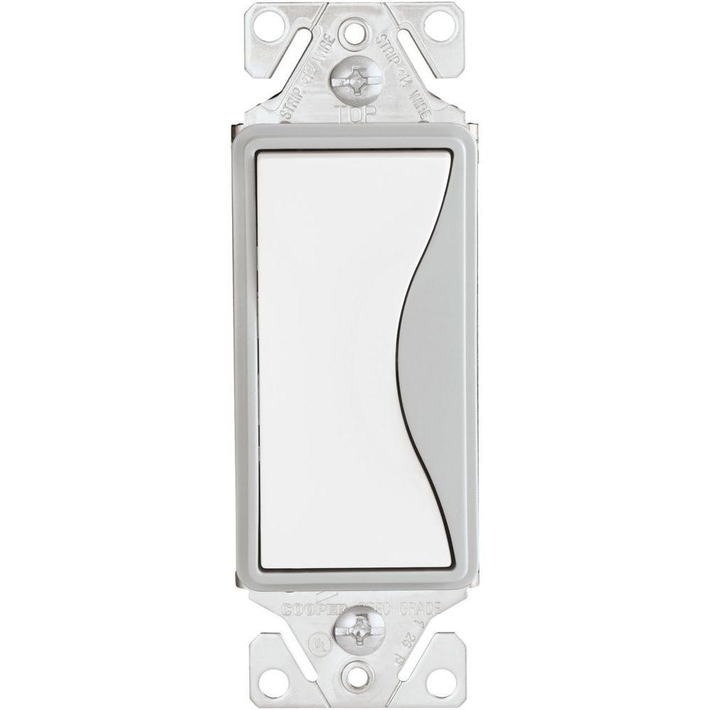 Aspire 15 Amp Side Wire/Push Wire Single Pole Switch, White Satin