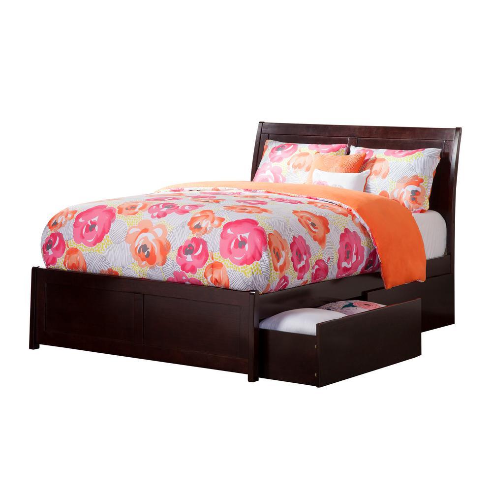 Atlantic Furniture Portland Espresso Full Platform Bed