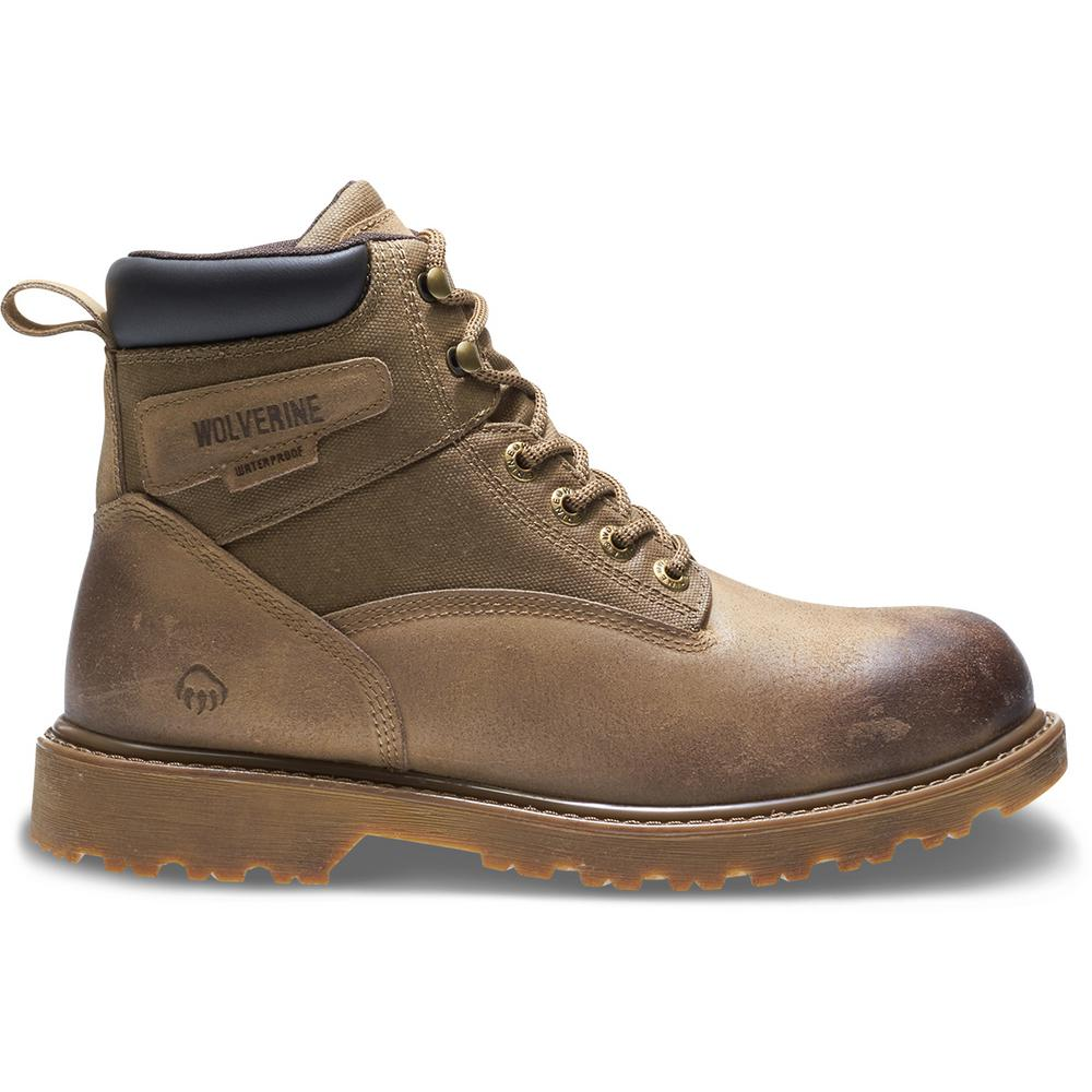 87f4d8925e2 Wolverine Men's Floorhand Size 9M Sand Waterproof Full-Grain Leather 6 in.  Boot