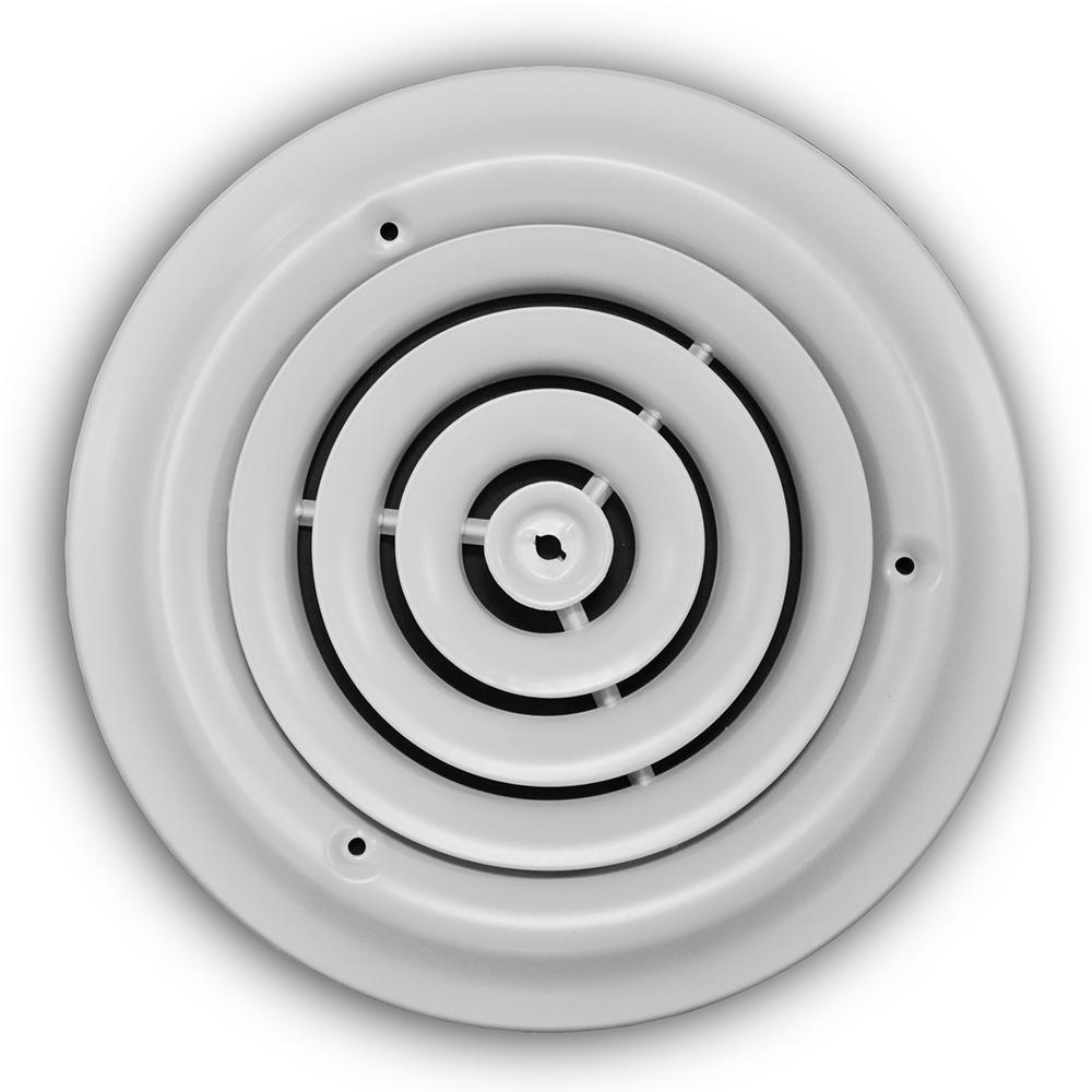 8 in. White Round Diffuser