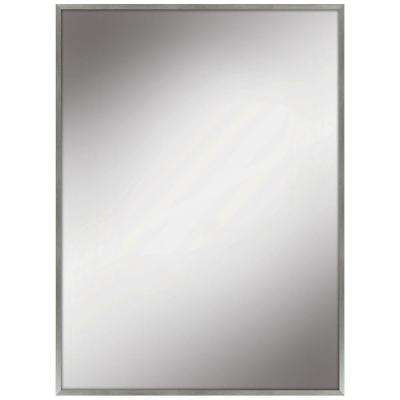 22 in. W x 28 in. L Framed Fog Free Wall Mirror in Silver