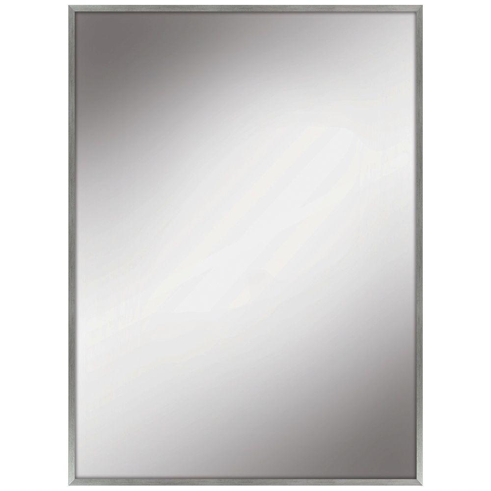 22 in. W x 28 in. L Framed Fog Free Wall Mirror in Silver