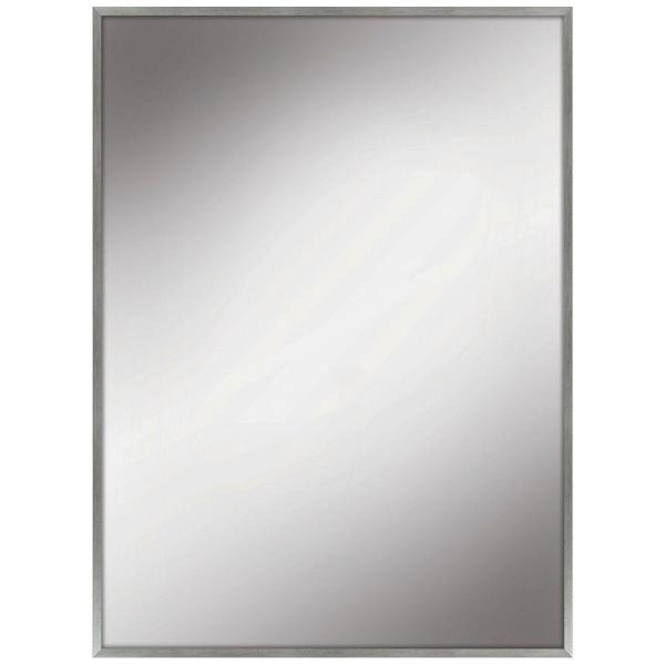 22 in. W x 28 in. H Framed Rectangular Anti-Fog Bathroom Vanity Mirror in Silver Finish
