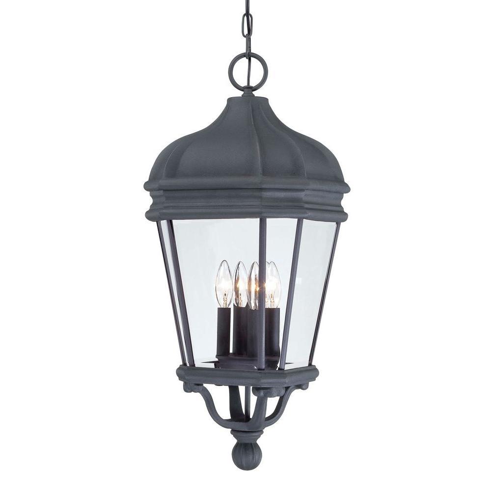 Harrison Black 4-Light Hanging Indoor/Outdoor Lantern