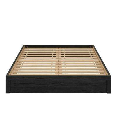 Arrowgate Platform Black Oak Queen Size Bed Frame