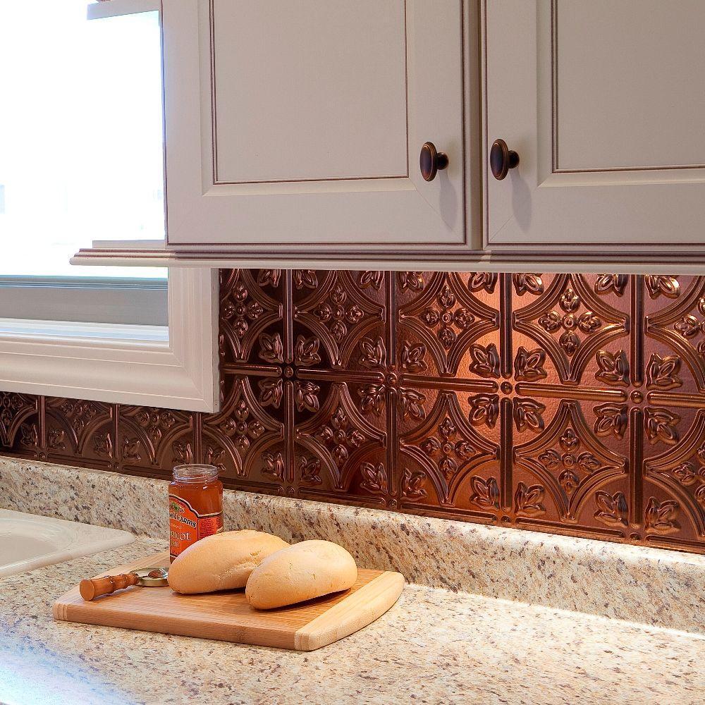 18 in x 24 in Traditional 1 PVC Decorative Backsplash Panel in
