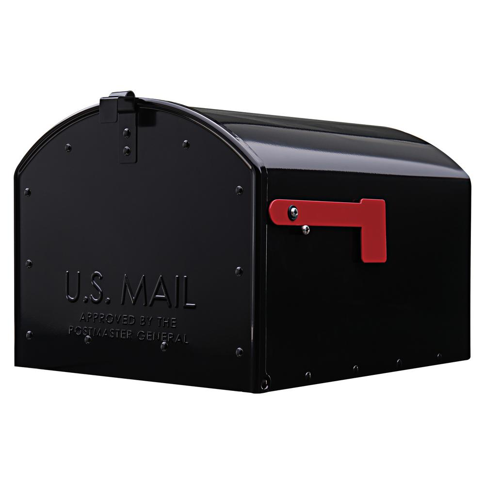 Gibraltar Mailboxes Storehouse Galvanized Steel Black Extra Large Parcel Mailbox