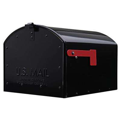 Storehouse Black Extra Large Post-Mount Mailbox