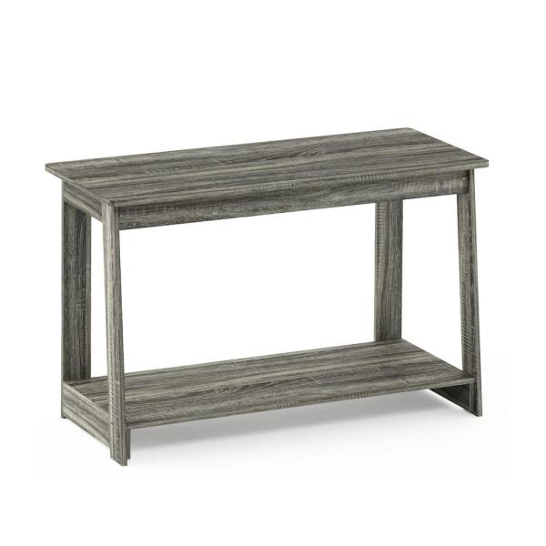 Furinno - Beginning 35 in. French Oak Gray Particle Board TV Stand Fits TVs Up to 37 in. with Open Storage