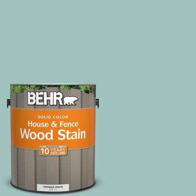 1 gal. #S440-3 Aspiring Blue Solid House and Fence Exterior Wood Stain