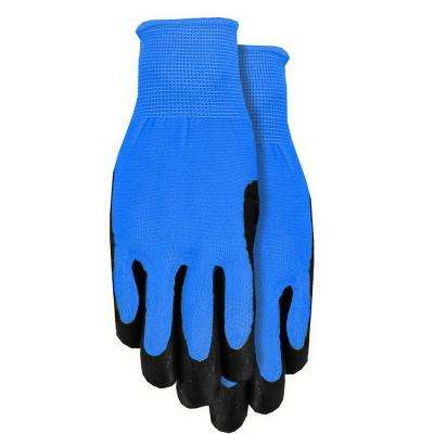 Blue Men's Nitrile Coated Gloves