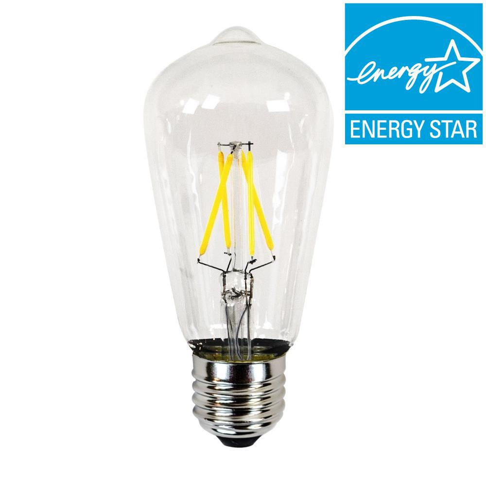 Newhouse Lighting 40w Equivalent Incandescent St19 Dimmable Led Filament Light Bulb Ledebd Og