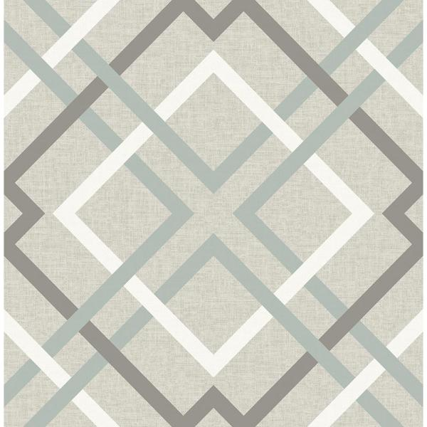 Saltire Taupe Plaid Paper Strippable Wallpaper (Covers 56.4 sq. ft.)