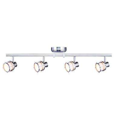 4-Light Pewter Integrated LED Track Lighting Fixture