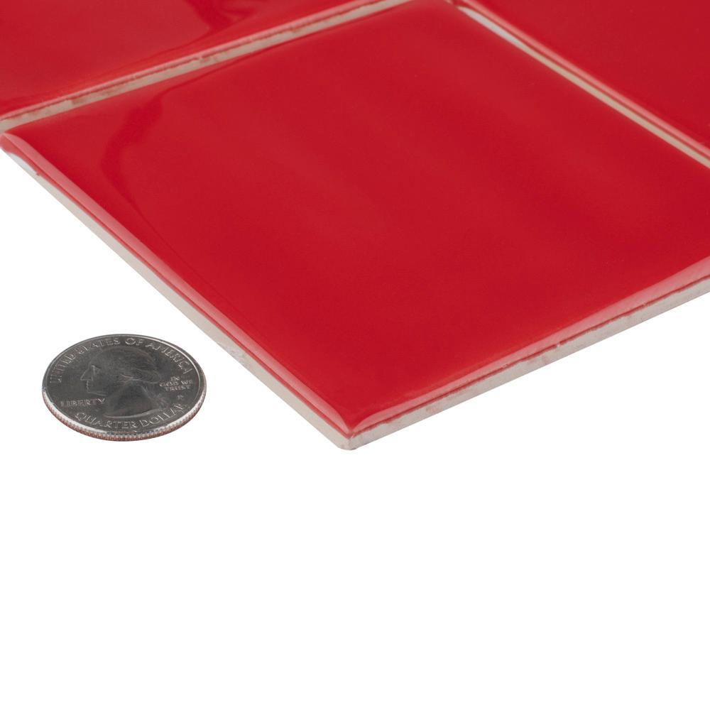 Twist Square Red Cherry 11-3/4 in. x 11-3/4 in. Ceramic Mosaic (9.79 sq. ft. /Case)