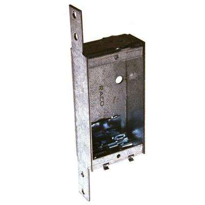 1 in. Deep Single-Gang Switch Box with NMSC Clamps and Bracket Set Back 1/4 in. (6-Pack)