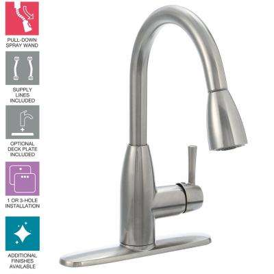 No Spacing Single Hole Kitchen Faucets Kitchen The Home Depot
