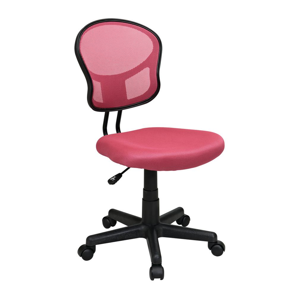 Mesh Task Swivel Work Chair Pink Office Star Computer Desk Home Furniture Seat