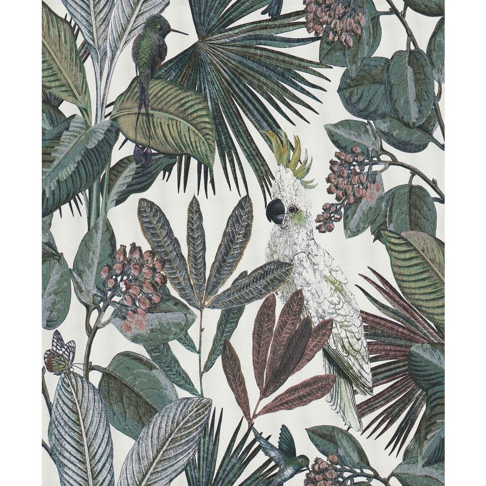 White Tropical Paradise Wallpaper