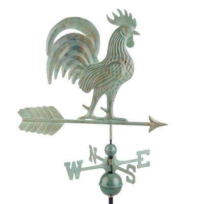 Proud Rooster Weathervane - Blue Verde Copper