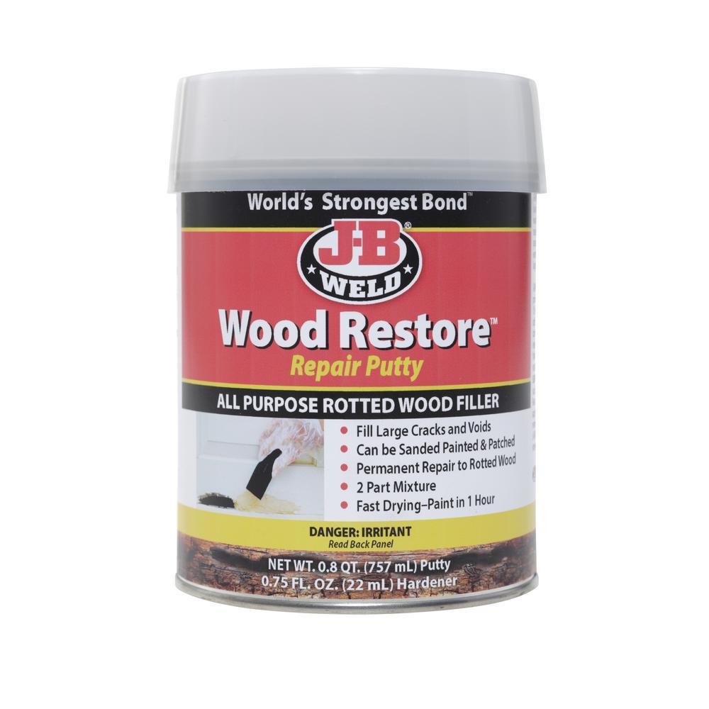 J-B Weld Wood Restore Repair Filler Putty - 25.6 oz. (Case of 3)