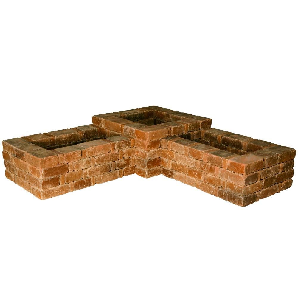 Pavestone Rumblestone RumbleStone 73.5 in. x 17.5 in. Concrete 90° Planter Kit in Sierra Blend