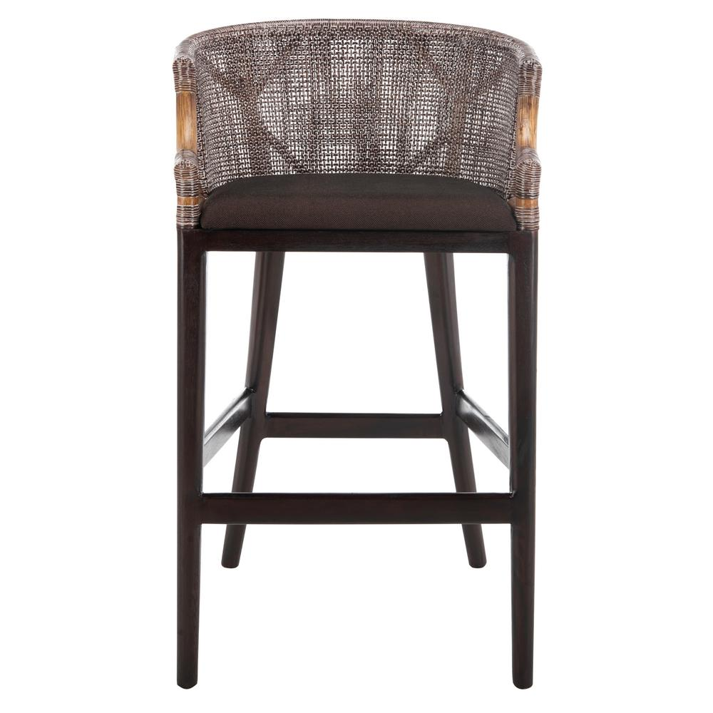 Brown cushioned bar stool
