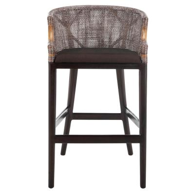 Brando 28 in. Brown Cushioned Bar Stool