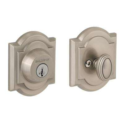 Prestige Satin Nickel Single Cylinder Arched Deadbolt