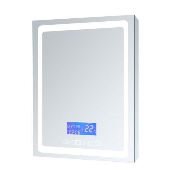 Bracciano 24 in. W. x 36 in. H. Recessed or Surface-Mount LED Medicine Cabinet with Defogger