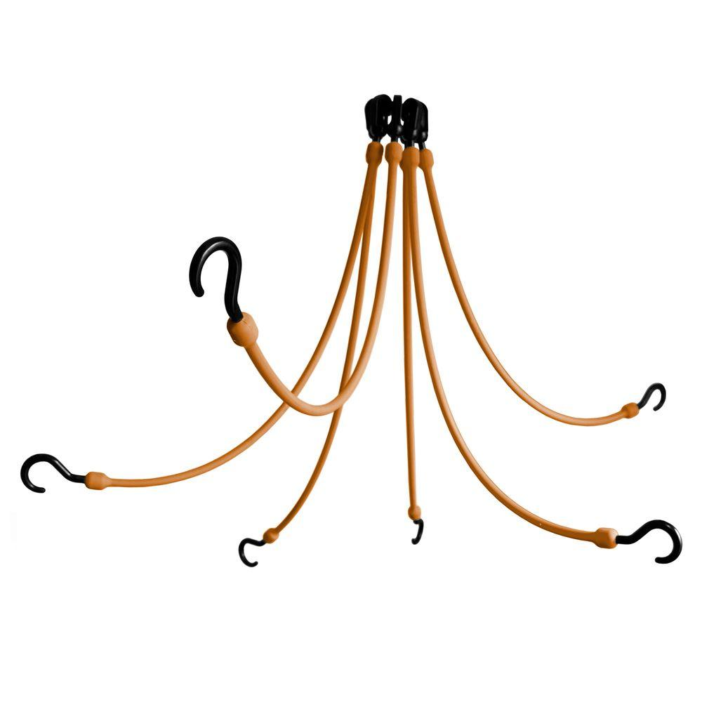 The Perfect Bungee 24 in. Polyurethane Flex Web with Six Arms in Tan-DISCONTINUED